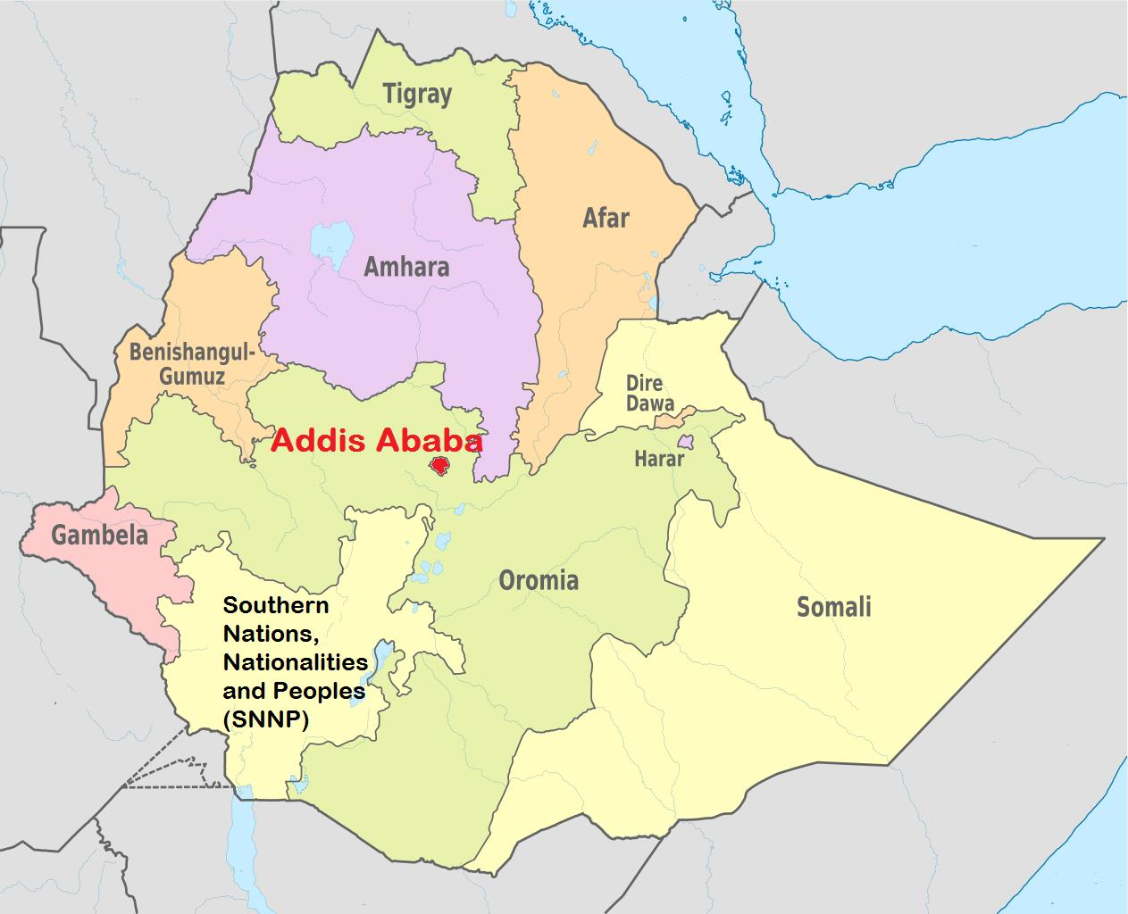 Addis ababa Ethiopia map - Addis ababa Ethiopia map world (Eastern ...