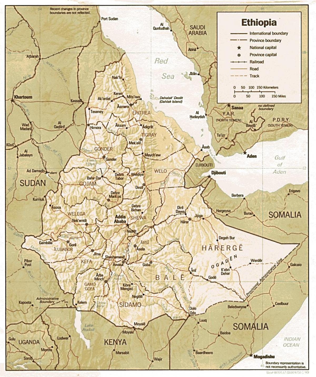 old Ethiopia map
