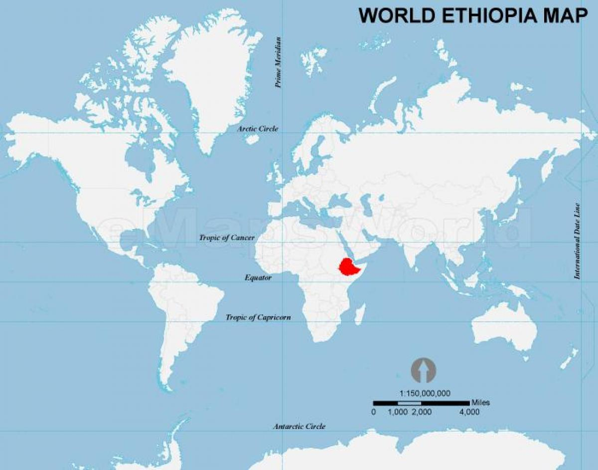 Ethiopia on world map - World map Ethiopia location (Eastern Africa ...