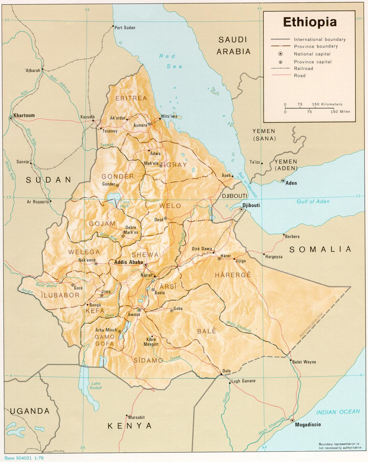 oldest Ethiopian map