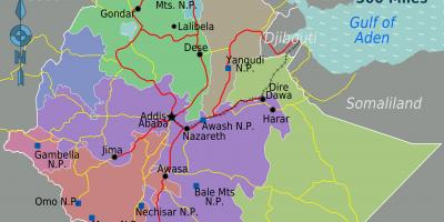 Ethiopia map - Maps Ethiopia (Eastern Africa - Africa)